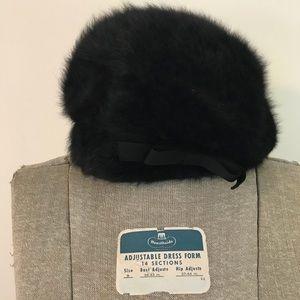 Vintage Kangol Black Angora Hat